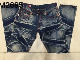 American Style Mens True Jeans Cotton Denim High Quality Size 30 32 34 36 38 40 Free Shipping