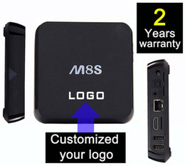 Wholesale 5pcs Customized Years Warranty Google Smart Android IPTV OTT TV boxes Amlogic S805 S812 quadcores GB GB Nobile Style M8 M8S M8Q