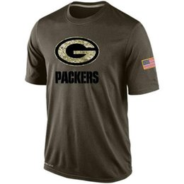 Wholesale Packers T Shirts cheap rugby football jerseys Tshirts Green Bay Salute To Service Banner Wave Black Gold Collection freeshipping