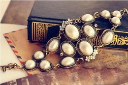 Wholesale 4151 European and American Korean jewelry luxury market spend pearl bracelet retro men and women S280