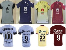 Wholesale DHL shipping Mexico club America grey red yellow blue shirt MICKY M LAYUN O PERALTA SAMBUEZA soccer football jersey thai quality