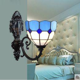 Tiffany Wall Mirror Mediterranean Wall Light Bathroom Creative Style Designer Wall Light Corridor Mirror Light
