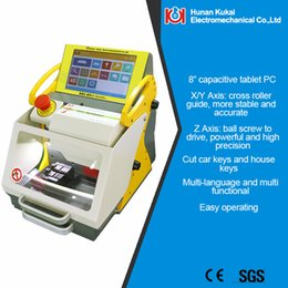 Wholesale Upgraded version CE approved China cheapest automatic key cutting machine SEC E9 with Tablet OEM ODM professional locksmith tools