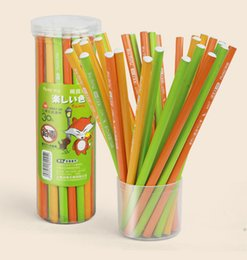 Wholesale Log pencil Write painting Wood count Non toxic Artist Erasable Learn Barrel Beginner Pencils sketch child Good touch feeling