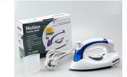 Wholesale 2016 Mini Portable Foldable Electric Steam Iron For Clothes With Gears Teflon Baseplate Handheld Flatiron For Home Travelling and students