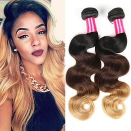 Rosa Hair Ombre Brazilian Virgin Hair Body Wave Ombre Brazilian Weave 3 Bundles Three Tone 7A Ombre Virgin Hair Extension