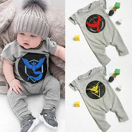 New Game Baby Boy Clothes Poke Go Team Kids Girl Children Cartoon Romper Outfits Clothes Set Baby Jumpsuit
