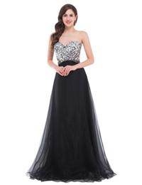 Wholesale Robes de soirée pas cher noir Nouveau Arrivée de perles sweatheart elbisesi Luxe Crystal robe demoiselle d honneur robe