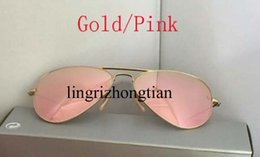 Wholesale Best Sell Brand Designer gold pink Mirror Sunglasses Men s Women s beach mm mm Sunglass with box