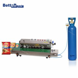 Wholesale FRM Automatic Continuous inflation Nitrogen film sealing machine plastic bag package machine Expanded food band sealer