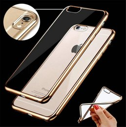Wholesale For Iphone plus Case TPU Backcover Ultra Thin Case note5 Electroplating Technology Soft Gel Silicone Case Opp Package DHL Free SCA082