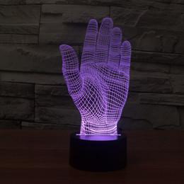 2017 New Palm 3D Optical Night Light 9 LEDs Night Light DC 5V Factory Wholesale