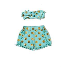 Little Girls Boutique gold dots pom short set ,Metallic Polka Dots Baby Girls outfit ,Baby Girls Short matching headband set
