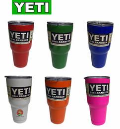 Wholesale YETI oz Cup Cooler YETI Rambler Tumbler For Travel Vehicle Beer YETI Mug Tumblerful Bilayer Vacuum Insulated Stainless Steel