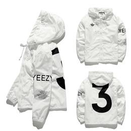 Wholesale YEEZY3 Jacket Men KANYE Hip Hop Army Military Windbreaker YEEZUS Jacket Baseball Mens Coat Men Bapes Outdoor Brand man Jacket