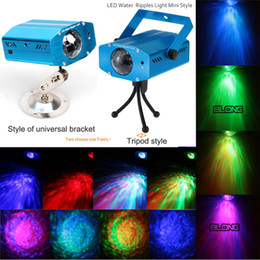 Wholesale RGB LED water lamp remote LED Water Ripples Light Laser Stage Lighting Colorful Wave Ripple Effect Light for Bar Leisure Center Club Room