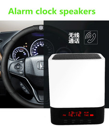 Wholesale Portable Wireless Bluetooth Speaker LED Light Lamp Alarm Clock Subwoofers with Quality Sound Touch Light Sensor MP3 Player and TF card