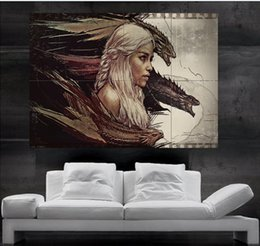 Game of thrones Daenerys Targaryen mother of dragons Poster Poster print wall art 8 parts giant huge Poster print art free shipping NO 8-9