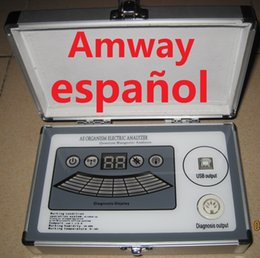 Wholesale 2016 Newest Comparative Reports Dual Core Quantum Magnetic Resonance Analyzer in Spanish and Amway Spanish Version