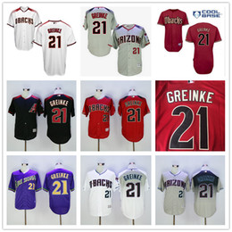 Wholesale 2016 New Zack Greinke Arizona Diamondbacks Mens Baseball Jerseys Purple Gray White Red Black Supply