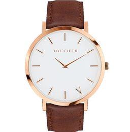Wholesale The fifth Quartz Watch Men Women Famous Brand Gold Leather Band Wrist Watches Relojes Montre Homme Erkek Kol Wristwatch