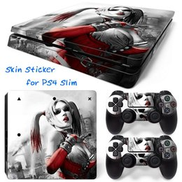 Cool Harley Quinn PS4 Slim Vinyl Skin Sticker Console Skin + 2 PCS Controller Cover Decal Skins For PS4 Slim