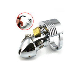 Restraint Stainless steel Adjustable Male Fetish Chastity Cage Device