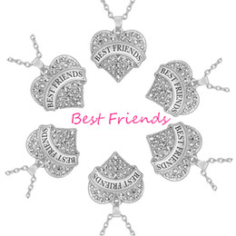 Rhodium Plated Love Heart Pendant Friends Necklace for 6 Necklace Once Upon A Time Teen Girls Jewelry