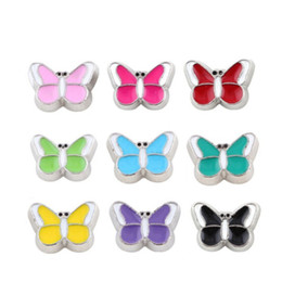 20pcs lot Free shipping mix charms Butterfly Floating locket Charms Fit Glass Floating Locket