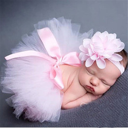 Cute baby accesorios de fotografía en venta-Traje lindo del traje del diseño Los accesorios recién nacidos de la fotografía del bebé Hecho a mano TUTU Dress + Bow Hairband CapGI2035