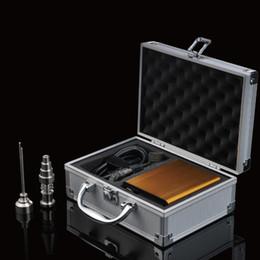 Wholesale Classic mini enail Dnail E NAIL Portable mini enail temperature controller box g9 enail with mm mm coil heater with Aluminium Case