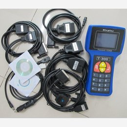 Wholesale DHL Free T300 Key Programmer Newest V15 T T OBD2 Auto Key Transponder English Spanish Optional T300 T code Key Maker
