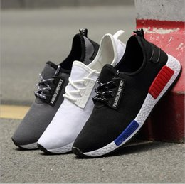 Wholesale Korean Flats Boots - 2016 spring and summer wild section NMD popcorn men sports running shoes Korean version of casual shoes