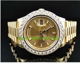 Wholesale Luxury MAN WATCHES New Mens President II Solid kt MM Diamond Watch Gold Dial Ct