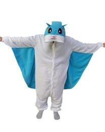 Wholesale Flying Squirrel Cute Onesie Blue Romper Girls Jumpsuit Pyjamas Nightgowns Women Sleepwear Long Sleeve Size Chinese Market Online