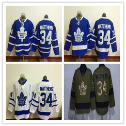 Wholesale 2016 New Toronto Maple Leafs Ice Hockey Jerseys Auston Matthews Blue White Green Authentic Stitched Athletic Outdoor Apparel