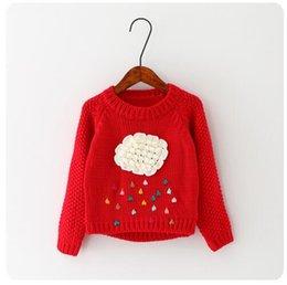 new winter cartoon baby girls sweater cloud raindrops kids clothes children sweater warm long sleeve for girls knitwear