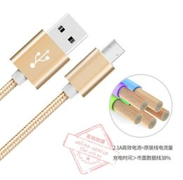 Wholesale 2016 New CM Nylon GOLD Braided Aluminum Head USB Cable Fast Charger Cable Data Sync for one plus samsung S7 Double Side Available Thicker