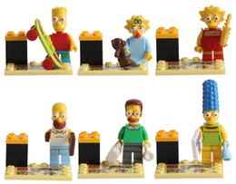 Wholesale 6pcs set CM The Simpson Family Model Building Block For Kids Simpsons Series Lisa Bart Compatible Classic Toys