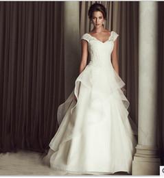 Wholesale Winter Wedding Cape New Upmarket Europe A Word Shoulder Deep V neck Trailing Big Yards Sale Wedding Dress The Bride Manufacturer