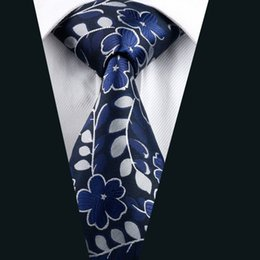 New Men's Necktie Casual Classic Ties for Man Brand Fashion Floral Tie for Wedding Business Silk Woven Neckties D-1160