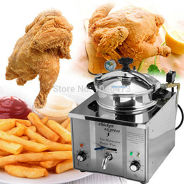 Commercial 16L Fish Chicken Meat Vegetable Chips Electric Pressure Fryer Good For Family Day Party