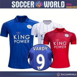 Wholesale Top thai quality New Leicester City Soccer Jerseys Jamie Vardy Football Shirt Mahrez Ulloa Albrighton Drinkwater Home awa rd camisas