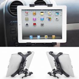 Acheter en ligne Vent mount gps-Support universel pour berceau de ventilation pour iPad 2/3/4/5 Tablette pour iPhone 6 6 Plus Mini porte-antenne pour voiture Onfine Leo