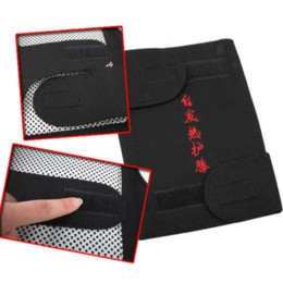 2 Pcs Spontaneous Heating Knee Brace Genouillere Protection Therapy Magnetic Belt Black belt pictures belt pad