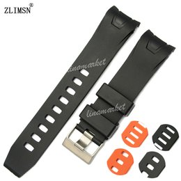 Rubber Curved end Watch Band ZLIMSN 20mm 22mm NEW Black Orange Diver Strap