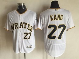 Wholesale Pittsburgh Pirates Cool Base Jersey Mens Jung Ho Kang White Baseball Jersey Name Number All Stitched Best Quality