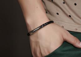 Fashion Black Unisex Mens Womens Braided Genuine Leather Bangle Bracelet Rope Chain Magnetic Clasp Surfer Biker Jewelry