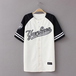 Wholesale New LA Los Angeles Dodgers Yankees Texas Rangers Blue Red Dary Blue Baseball Shirt Short Sleeve Men Women Baseball Shirt