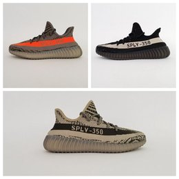 Wholesale NEW Quqality kanye Boost V2 v Boost Season running shoes boost Sneakers Large Size Orange Grey Black